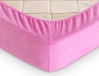 Простыня махр. Розовая